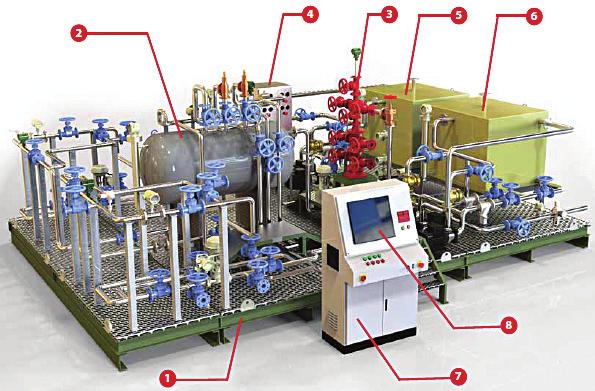 Separador de Três Fases com Controle Cabeça de Poço – Ref. DT-PG007