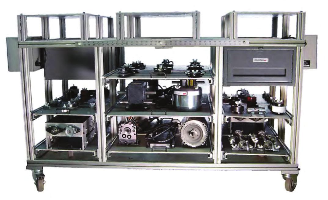 Bancada para Estudos de Mecanismos, Transmissão Mecânica e Instalações de Rolamentos – Ref. DT-MT001
