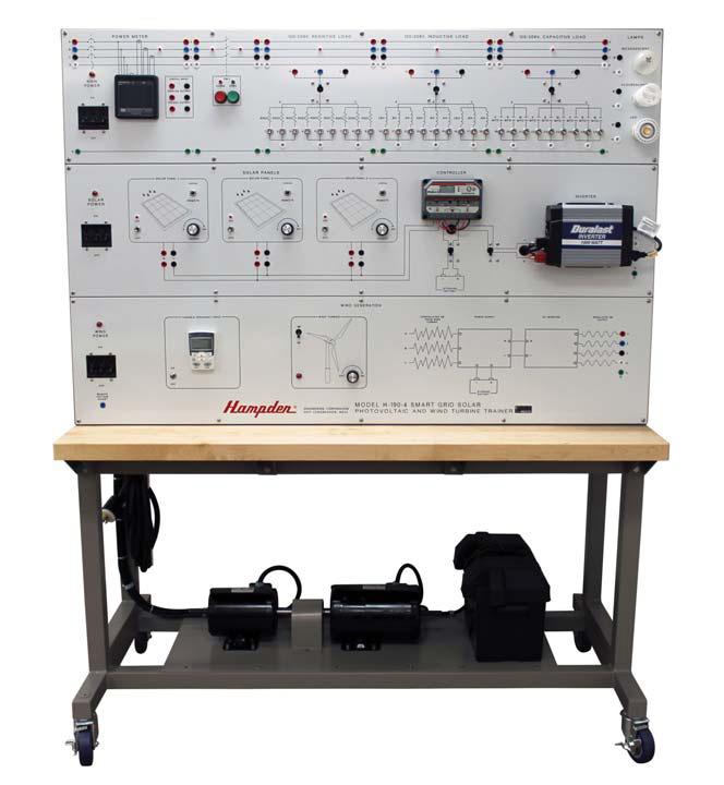 Sistema Smart Grid de Estudos em Energias Renováveis – Fotovoltaica e Eólica – Ref. DT-SG004