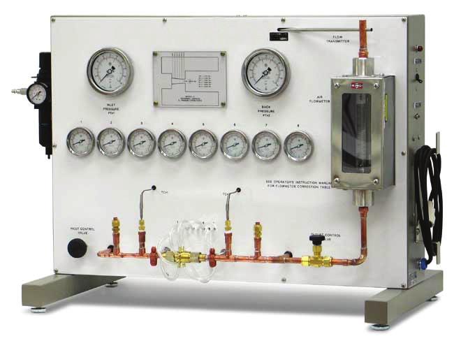 Sistema de Estudos de Distribuição de Pressão em Tubos de Escape (nozzle) – Ref. DT-AT006