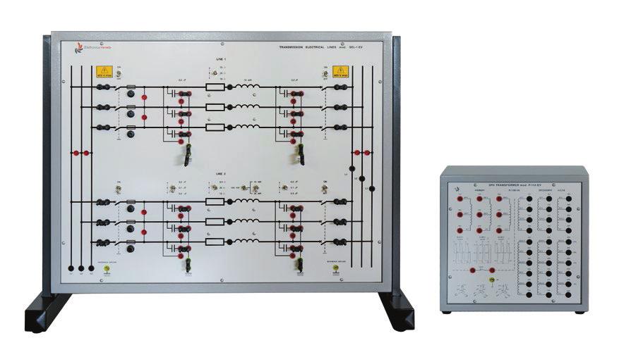 Linhas de Transmissão de Energia + Transformador Trifásico de Potência – Ref. DT-EE001.03 – Ref. DT-EE001.04