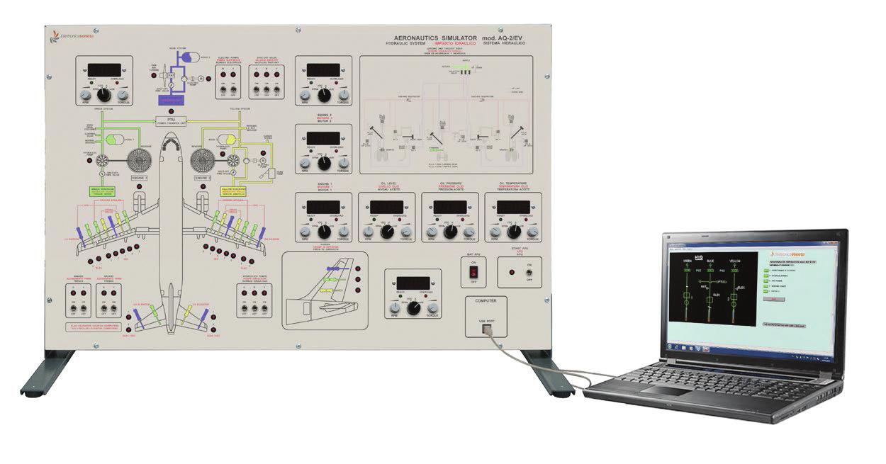 Sistema Hidráulico de Avião Bimotor – Ref. DT-AT017