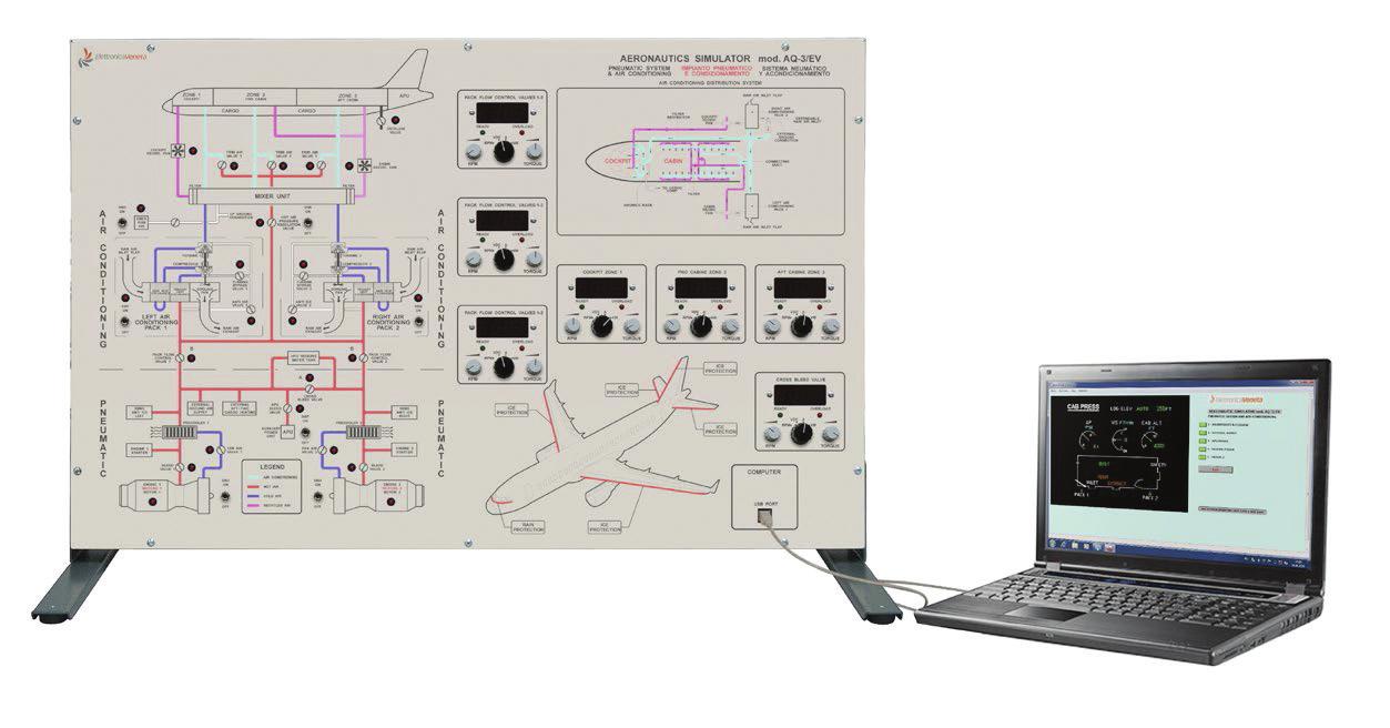 Sistema de Ar Condicionado e Pressurização de Avião Bimotor – Ref. DT-AT018