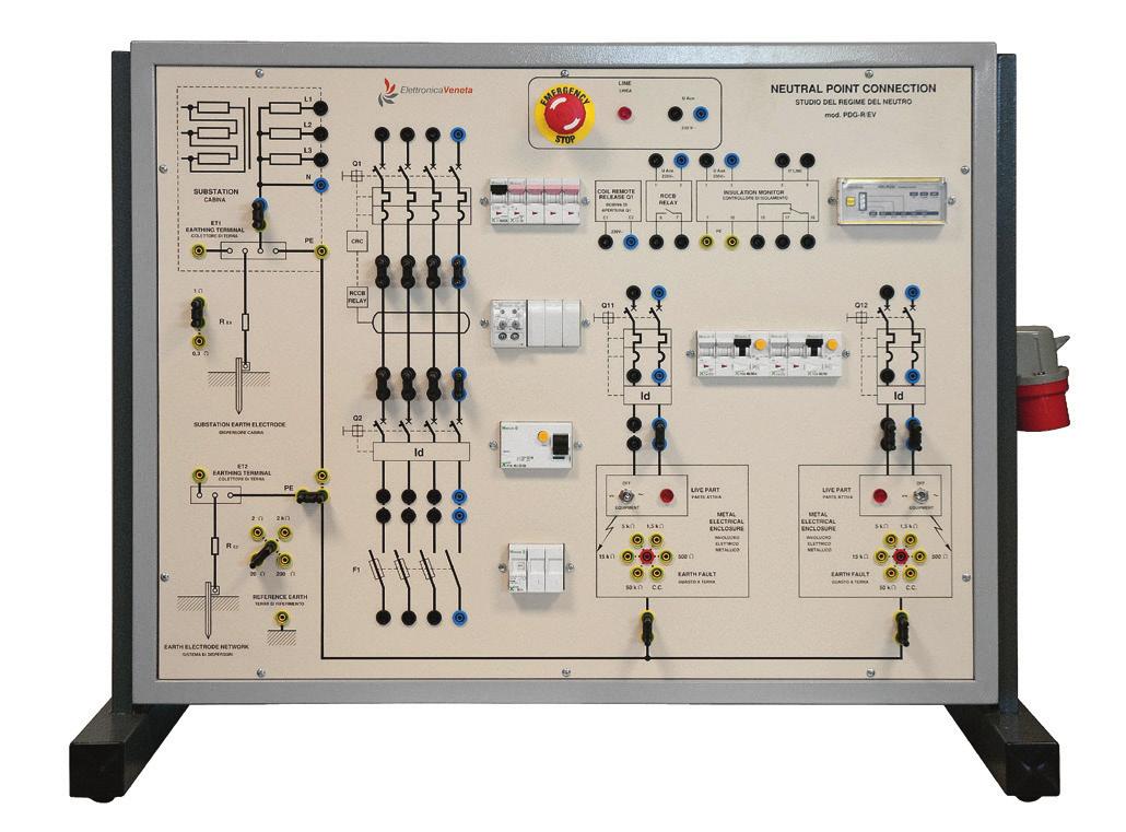 Painel para Demonstração para Estudo e Teste em Sistemas de Distribuição – Ref. DT-DM011