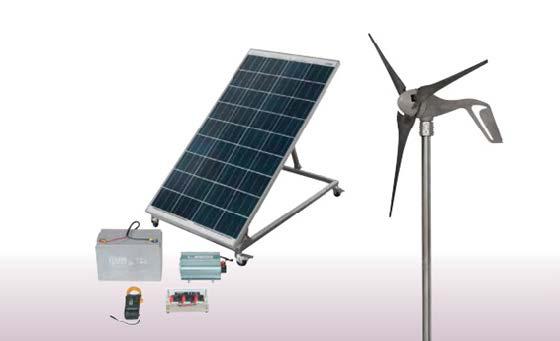 Sistema de Estudos em Geração de Energia Elétrica Fotovoltaica e Eólica Integrado – Ref. DT-ER014