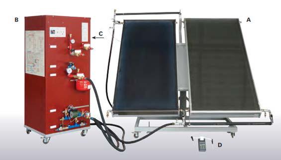 Sistema de Estudos em Caldeira com Coletores Solares – Ref. DT-ER016