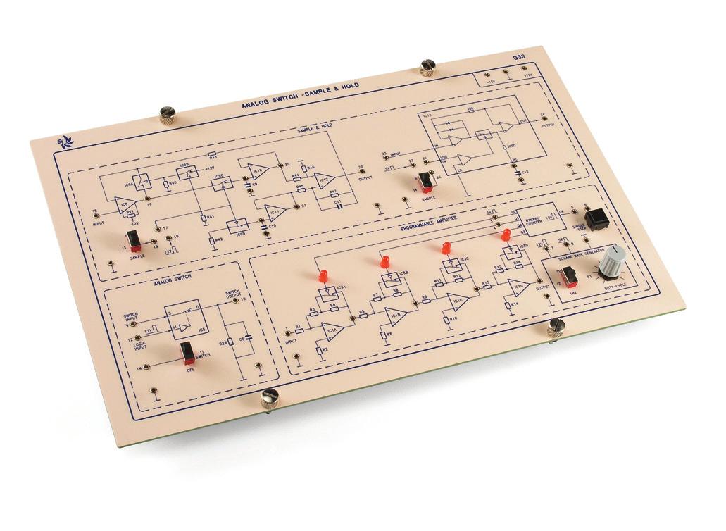 Eletrônica Industrial Avançada: Comutador Analógico e Circuito de Amostragem & Retenção – Ref. DT-ET015.07