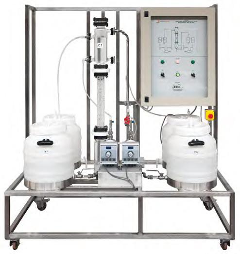 Planta Piloto de Extração Líquido-Líquido – Ref. DT-QI031