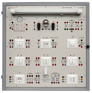 Laboratório de Ensino Integrado: Painel de Instalações de Iluminação e Tomadas – Ref. DT-ET022