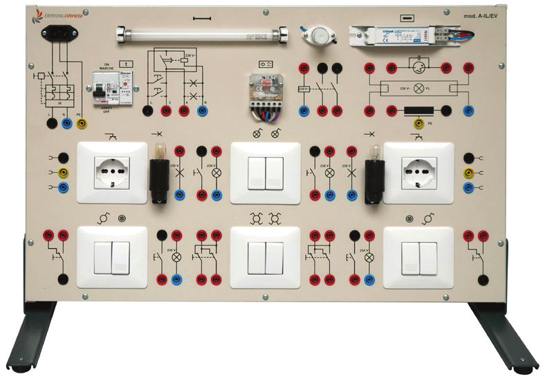 Painéis para Experimentos em Instalações Elétricas: Instalações de Iluminação Elétrica – Ref. DT-ET042.01