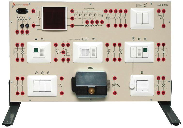 Painéis para Experimentos em Instalações Elétricas: Sistemas de Sinalização Óptica/Acústica – Ref. DT-ET042.04