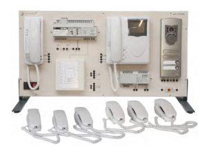 Painéis para Experimentos em Instalações Elétricas: Sistemas de Videofone Digitais de 2 Fios e Sistemas de Telefone – Ref. DT-ET042.06