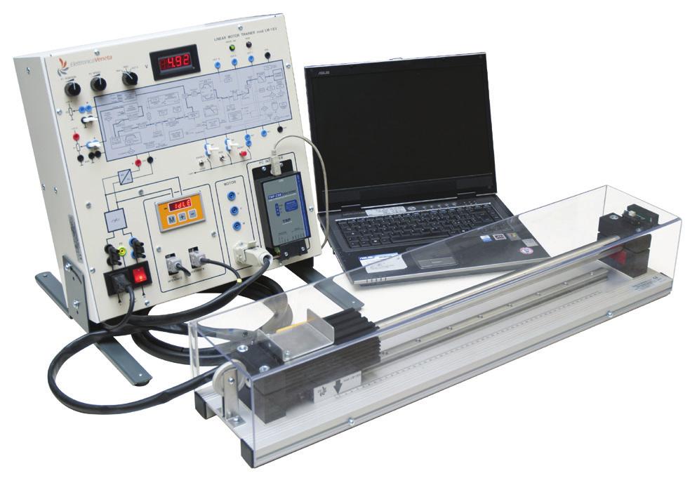 Sistema de Estudo em Treinador de Motor Linear – Ref. DT-ET048