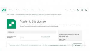 Acesso ao software da NI pelos alunos (com um programa ASL ativo)